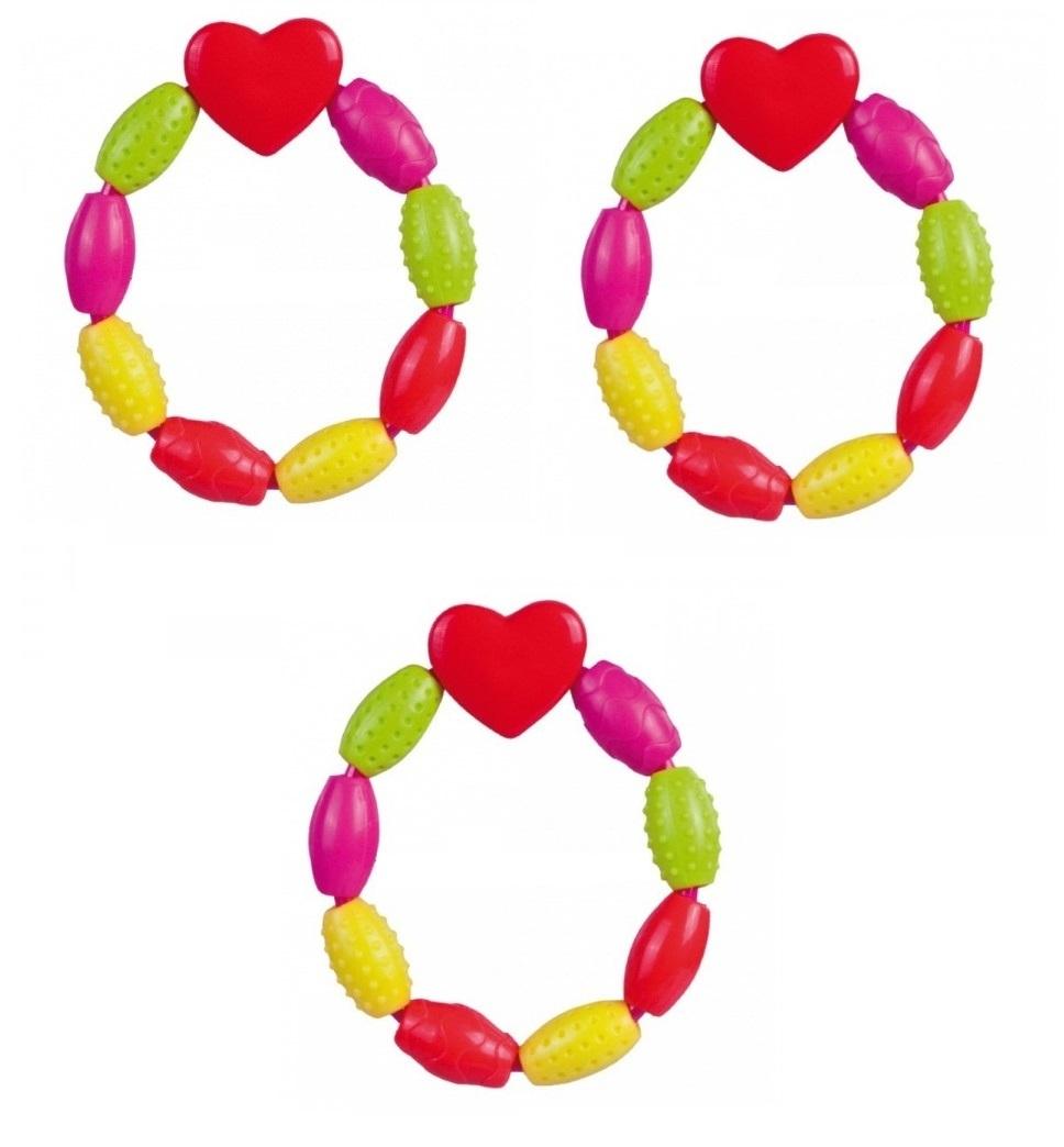 Bộ 3 miếng cắn răng nhựa hình trái tim Canpol Babies 2/631