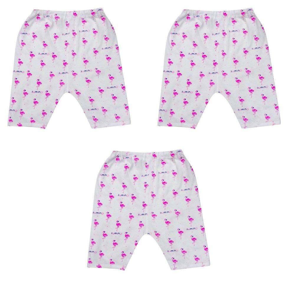 Bộ 3 quần lửng đóng bỉm hình thiên nga ILUMINO Size 80