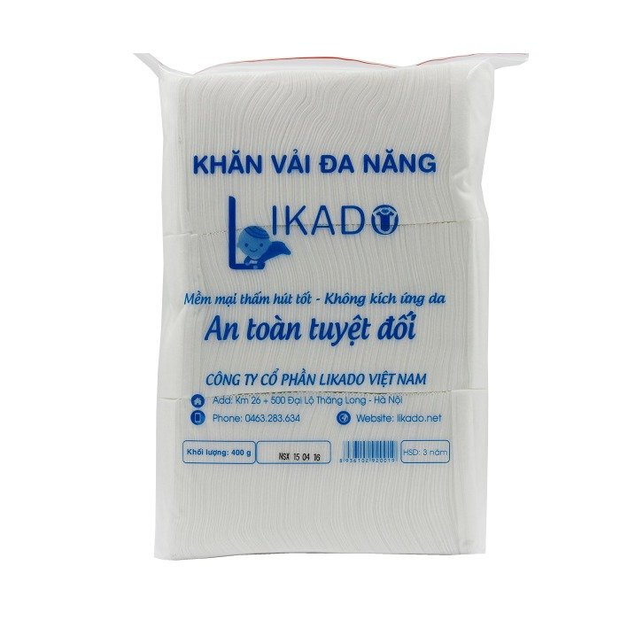 Bộ 5 Bịch Khăn vải khô đa năng likado 15x20 – 400g