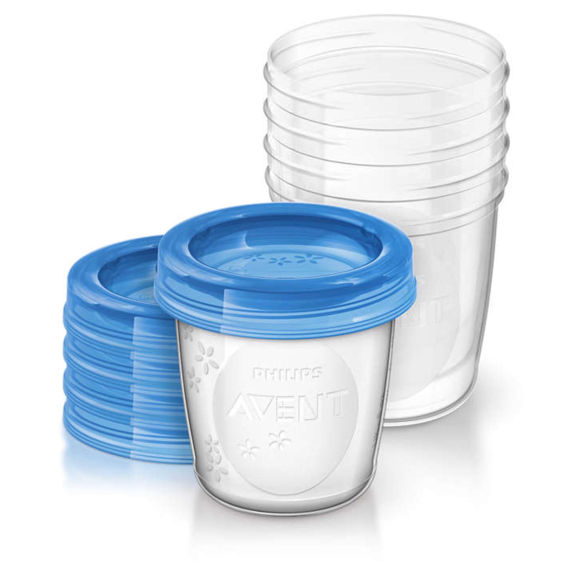 Bộ 5 Cốc trữ sữa bằng nhựa Philips Avent 180ml 619.05