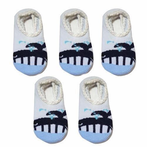 Bộ 5 đôi tất hài chống trượt hình cá voi