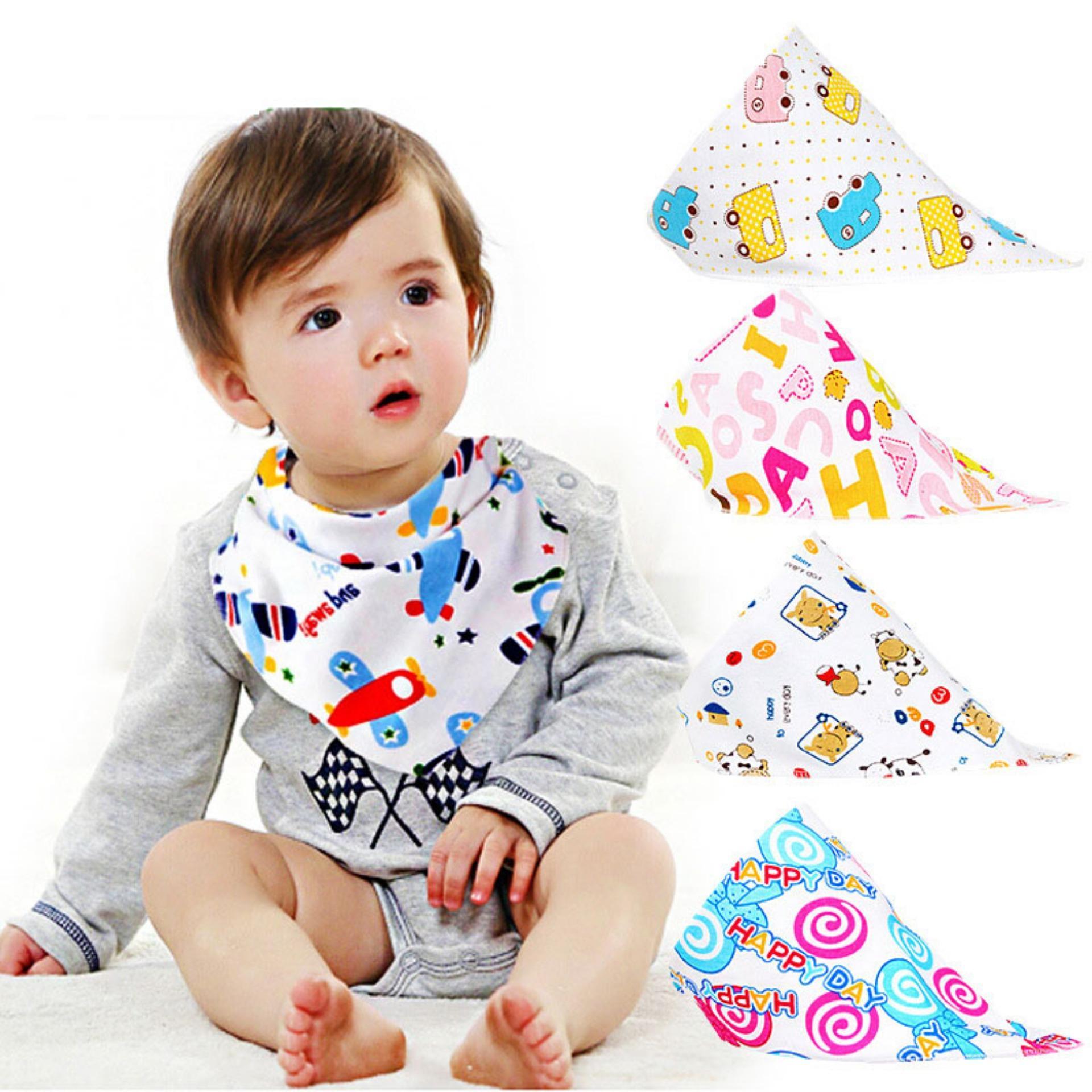Bộ 6 khăn yếm tam giác cho bé