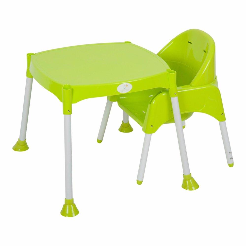 Bộ ghế ăn và bàn ăn cao cấp Babybum (Xanh lá)