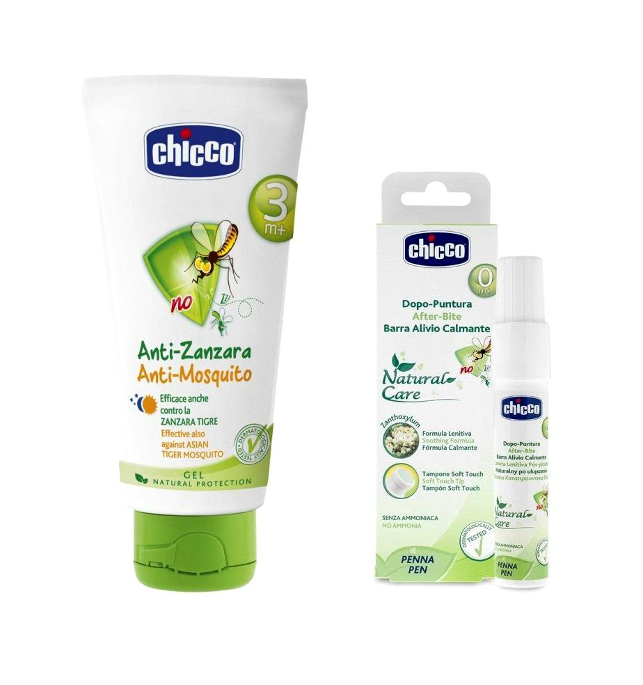 Bộ Kem chống muỗi Chicco 113859 60ml và Bút trị côn trùng cắn Chicco 114342