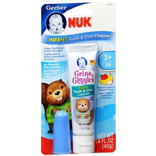 Bộ kem đánh răng và đầu rơ lưỡi cho bé từ 3 tháng tuổi Nuk 40 gr