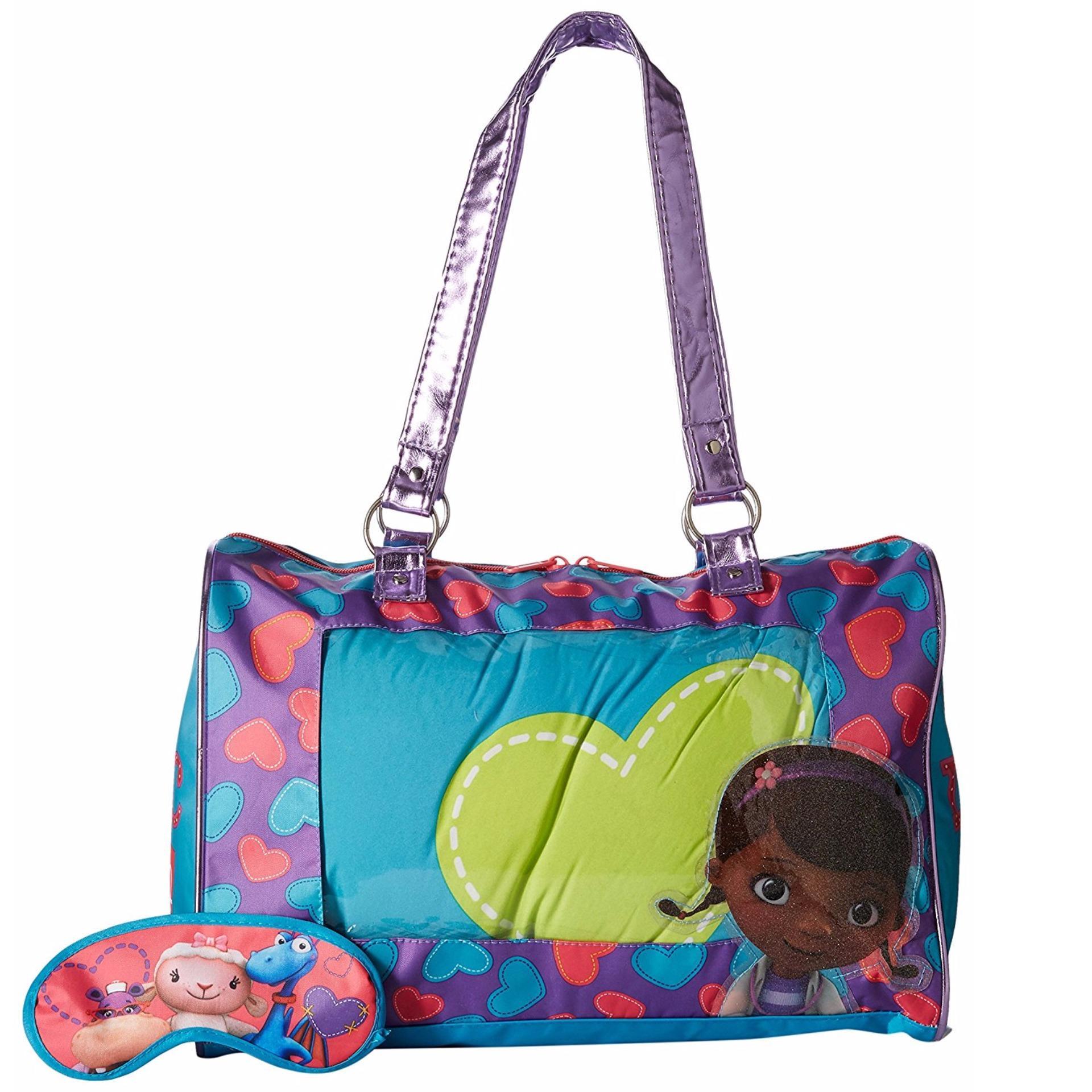 Bộ túi ngủ, túi xách, che mắt cho trẻ em Disney Doc McStuffins Sleepover Set Toy (Mỹ)