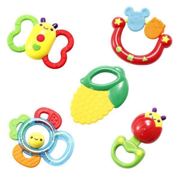 BolehDeals Auby Newborn Teether Rattle Gift Baby Teething Toy Infant Teether Toy Set - intl