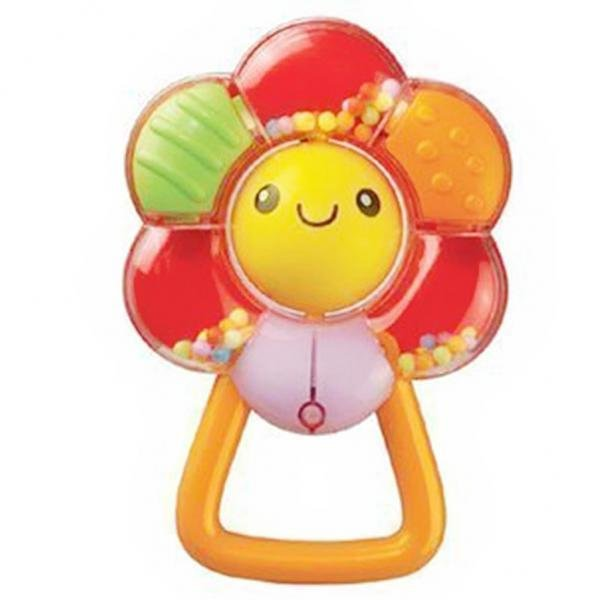 BolehDeals Baby Rattles Toy Multicolour Flower Rattles for Newborn Baby Sounding Toys - intl
