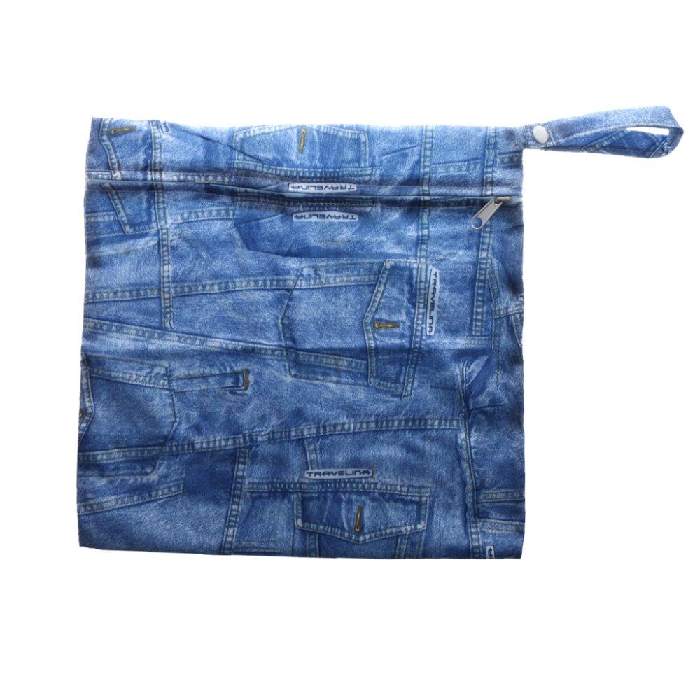 BolehDeals Phenovo Baby Waterproof Zipper Reusable Diaper Bag Multi Animal Pattern 5 - intl