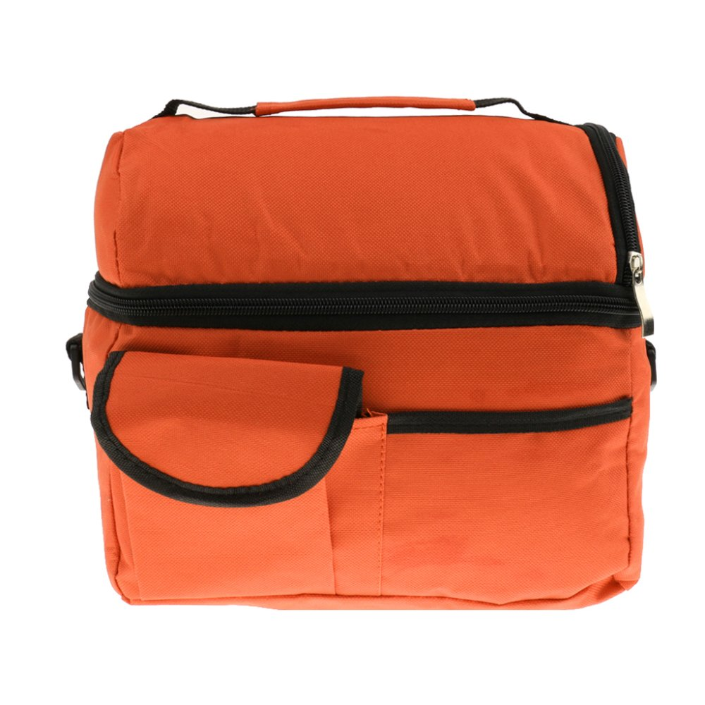 BolehDeals Thermal Insulated Bag Cooler Bag Picnic Lunch Bags Mummy Baby Bags Orange - Intl