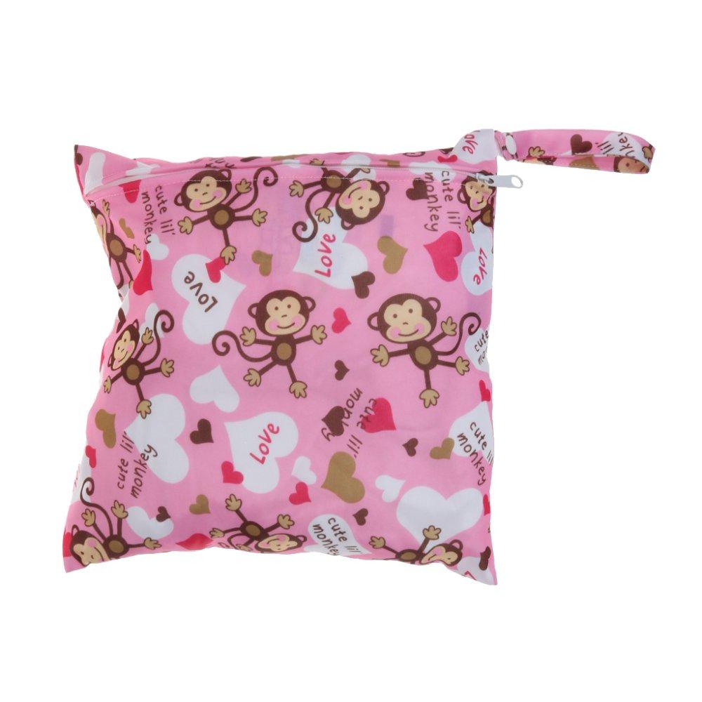 BolehDeals Waterproof Baby Zipper Diaper Bag Wet Dry Swim Travel Tote #3 - intl