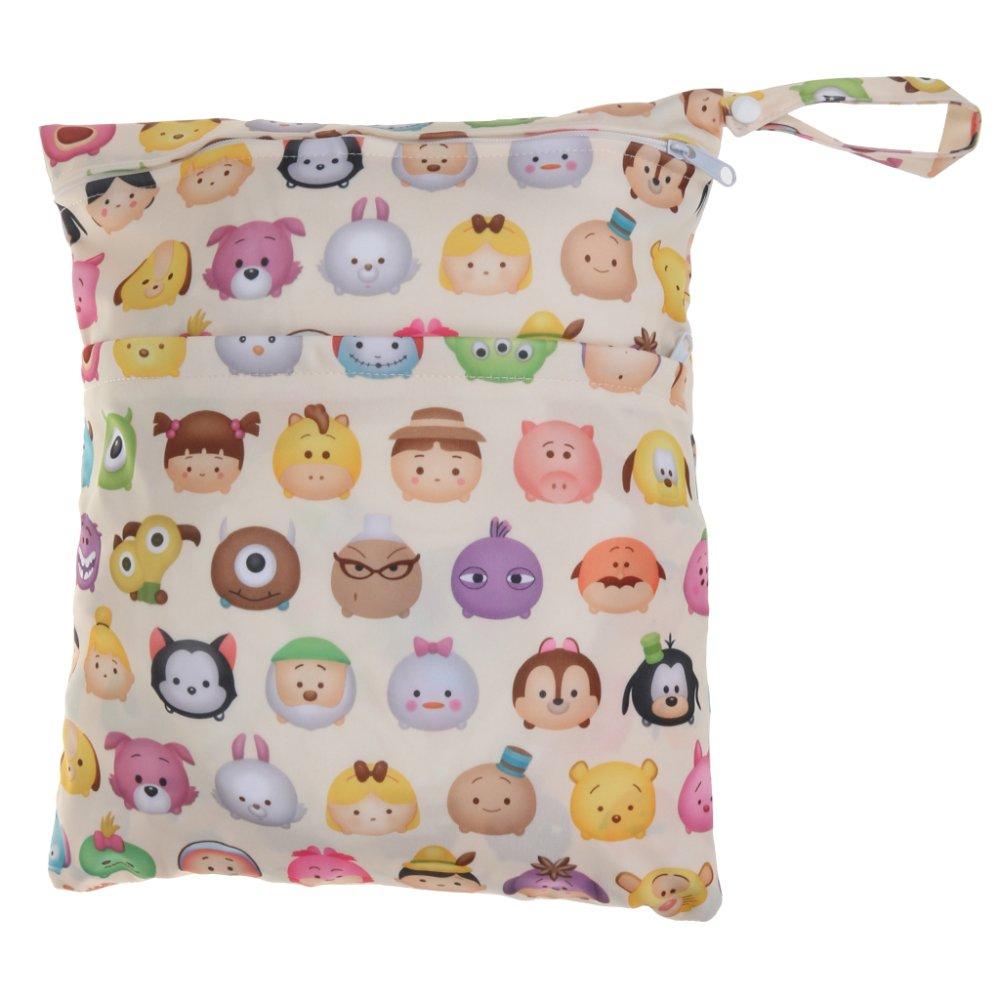 BolehDeals Waterproof Resuable Wet Dry Baby Diaper Bag Organizer Pouch Dual Zipper#6 - intl