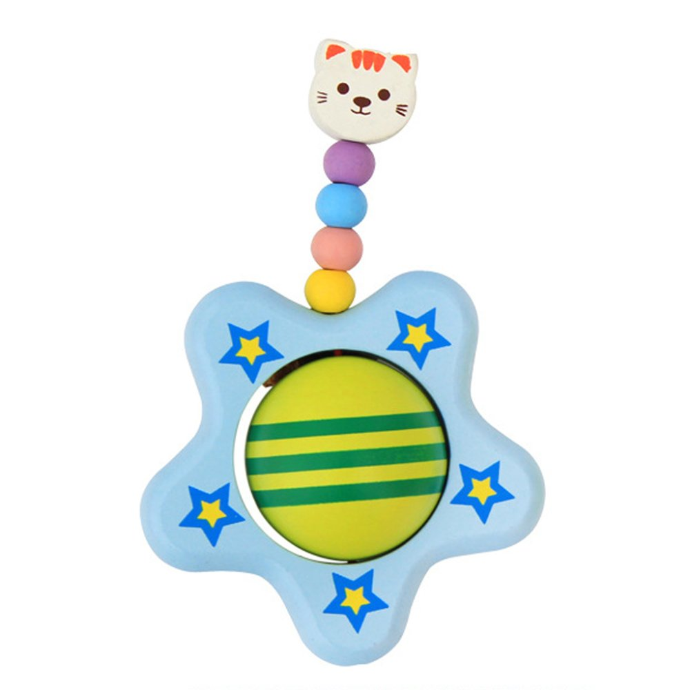Cute Star Wood Rattle Grasping Baby/Child Wooden Activity Toy - Intl