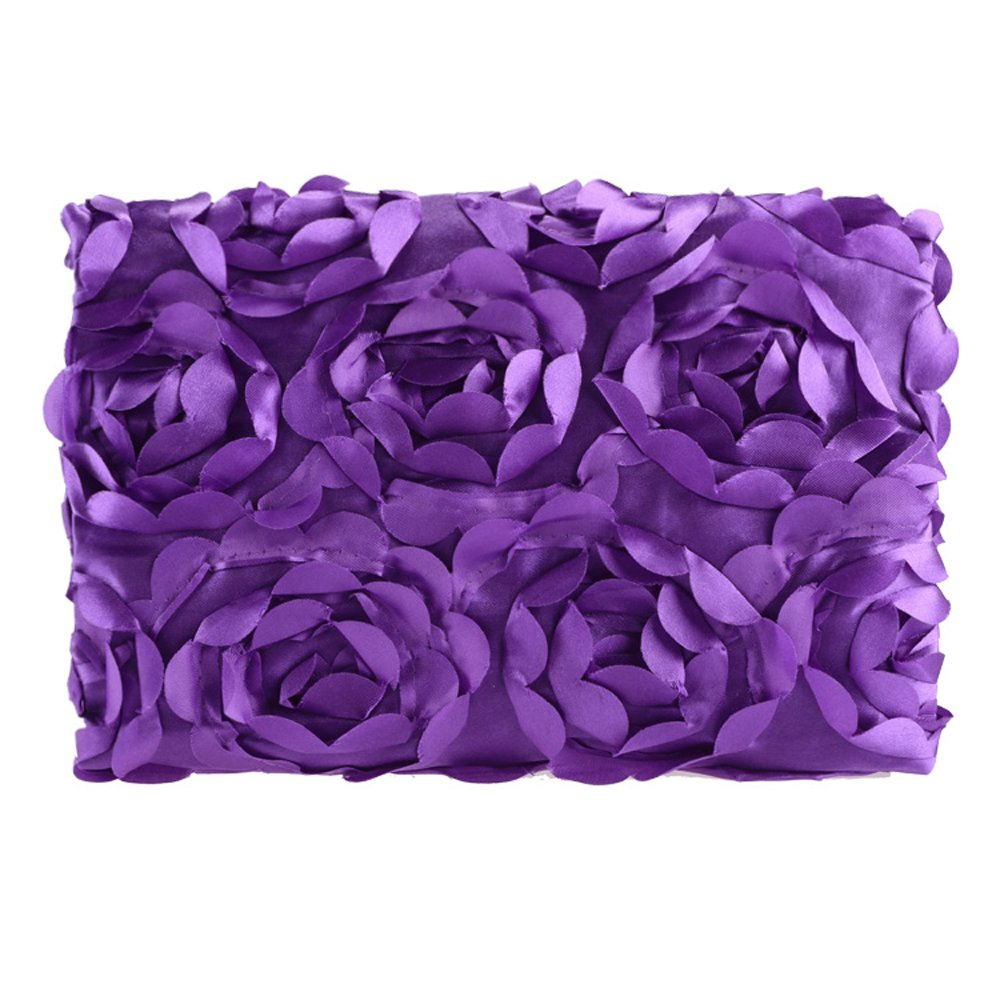 Cyber Fashion Newborn Baby 3D Photography Photo Props Rose Flower Backdrop Blanket Rug(Purple)