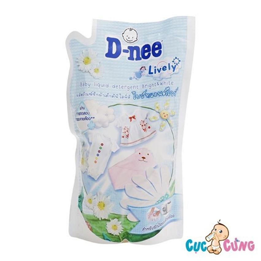 Dung dịch giặt xả Dnee gói 600ml (trắng)