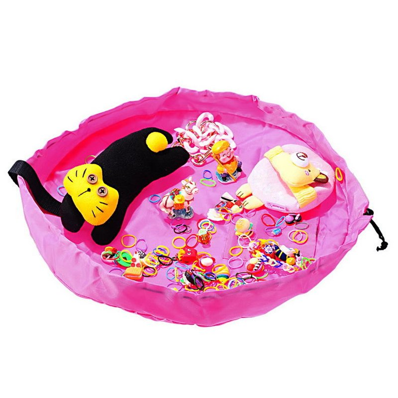 Fast Pouch Baby Toys Storage Bag Home S 45cm (Pink) - intl
