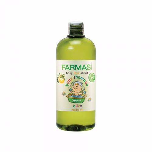 Gel tắm gội chiết xuất olive Farmasi Baby Shapoo 375 ml