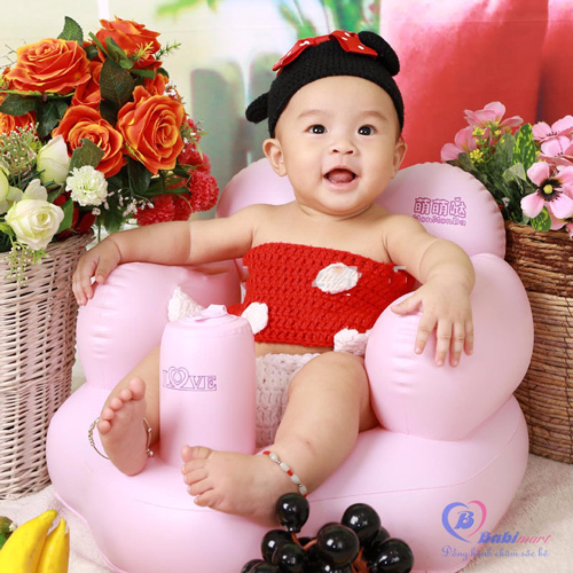 Ghế hơi tập ngồi cho em bé (Hồng)(Hồng)