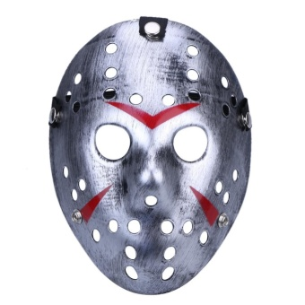 Halloween Masks Dance Gathering Jason Mask Horror Funny Mask(Silver) - intl