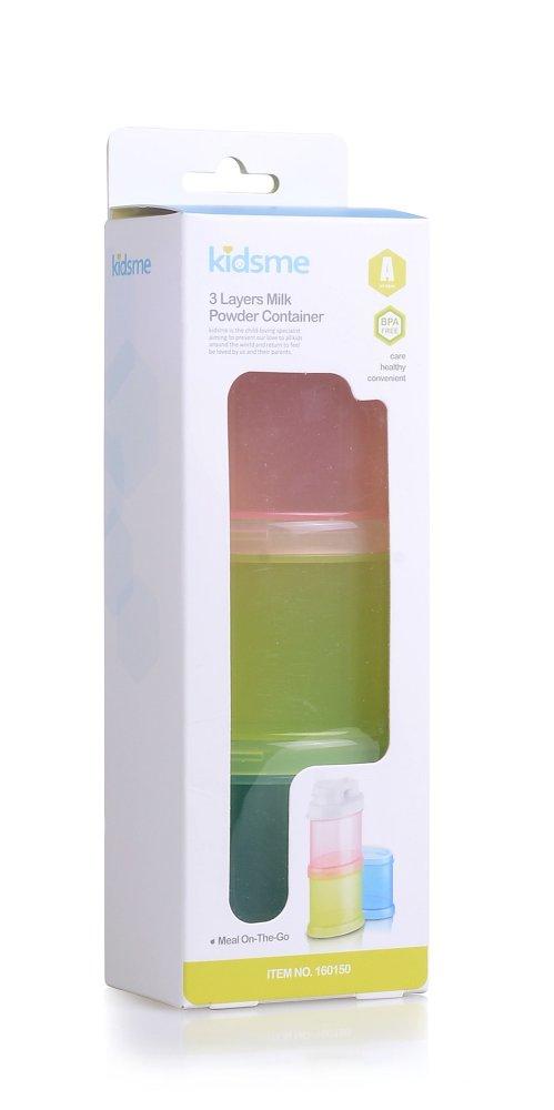 Hộp chia sữa 3 ngăn Kidsme 160150 (hồng vàng xanh)