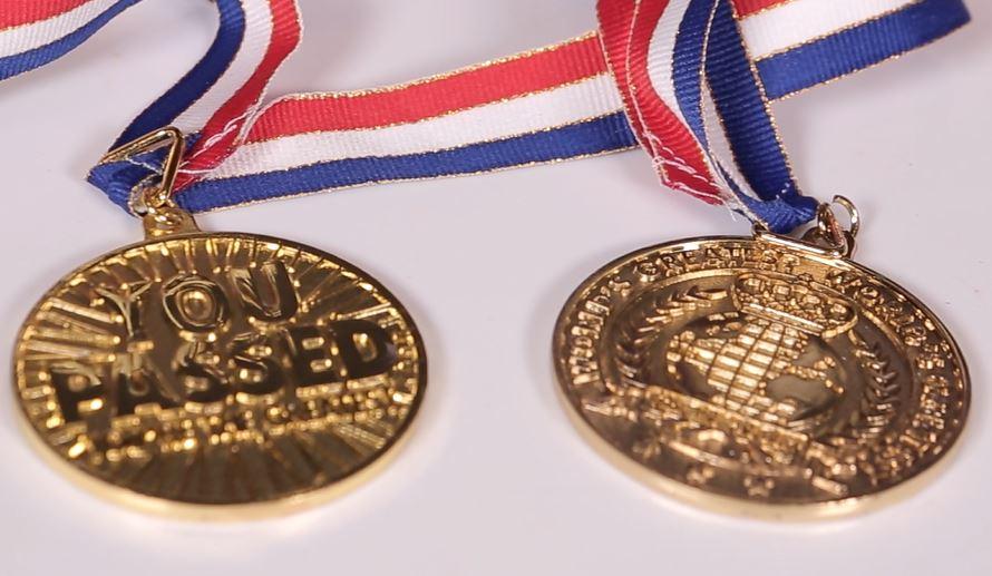 Huy chương độc đáo in slogan (Vàng đồng)