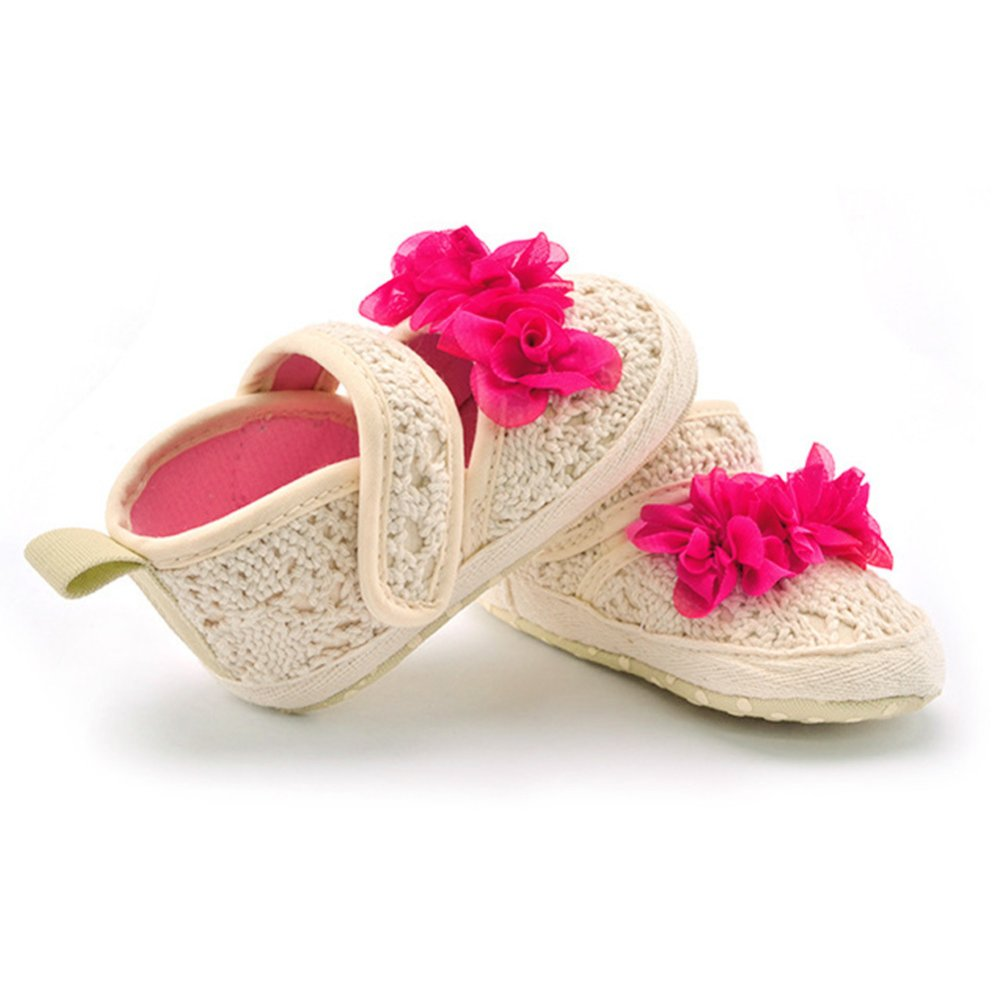 Infant Toddler Big Red Flower Soft Sole Fashion Baby Shoes - Intl