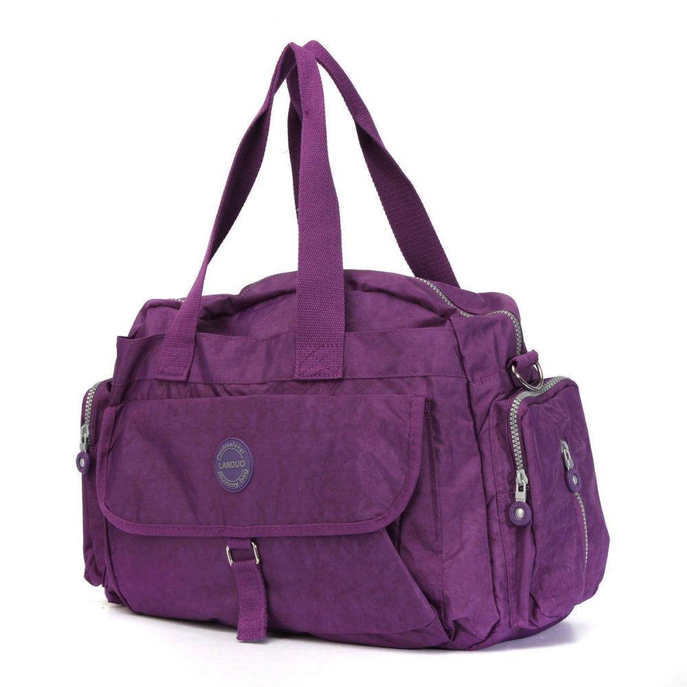 LANDUO Baby Changing Bag Large Mummy Diaper Nappy Shoulder Handbag Travel Purple - Intl