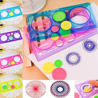 Multi-function Spirograph Children Drawing Plastic Ruler - intl