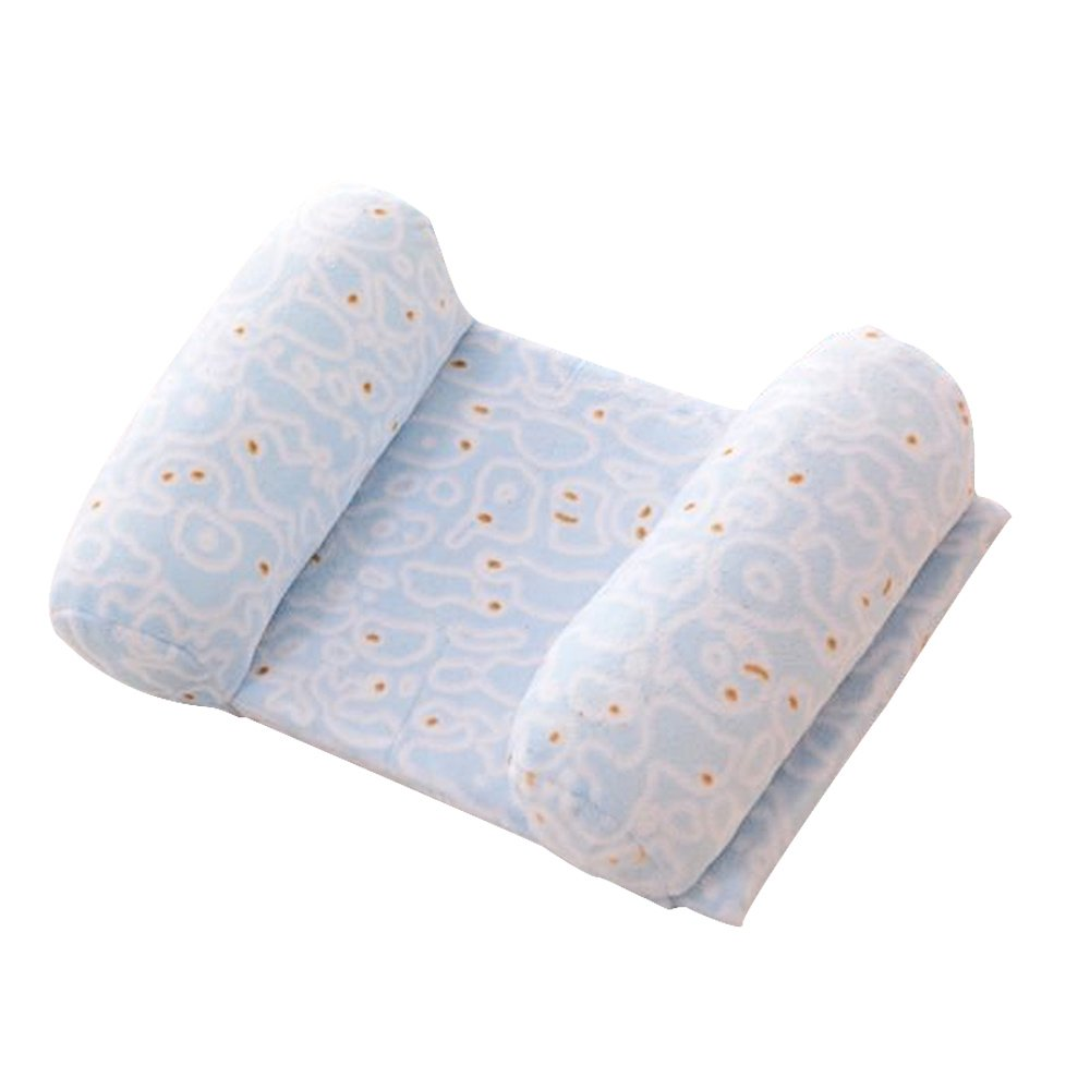 Newborn 0-1 Years Old Babies Infants Kids Head Positioner Anti-bias Shaping Anti Roll Sleeping Safety Protection Pillow Blue
