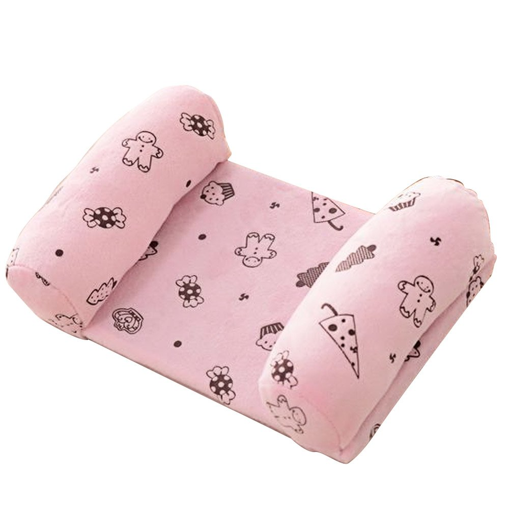 Newborn 0-1 Years Old Babies Infants Kids Head Positioner Anti-bias Shaping Anti Roll Sleeping Safety Protection Pillow Pink