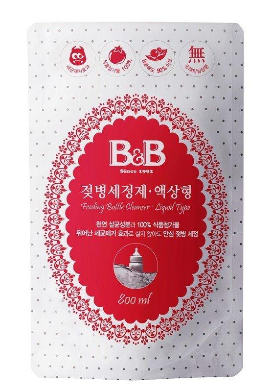 Nước rửa bình sữa dành cho em bé B&B dạng lỏng gói 500ml
