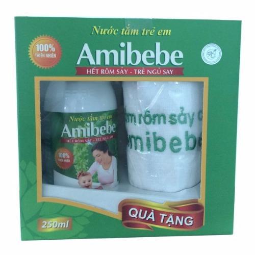 Nước tắm trẻ em Amibebe 250ml M106 (Green)