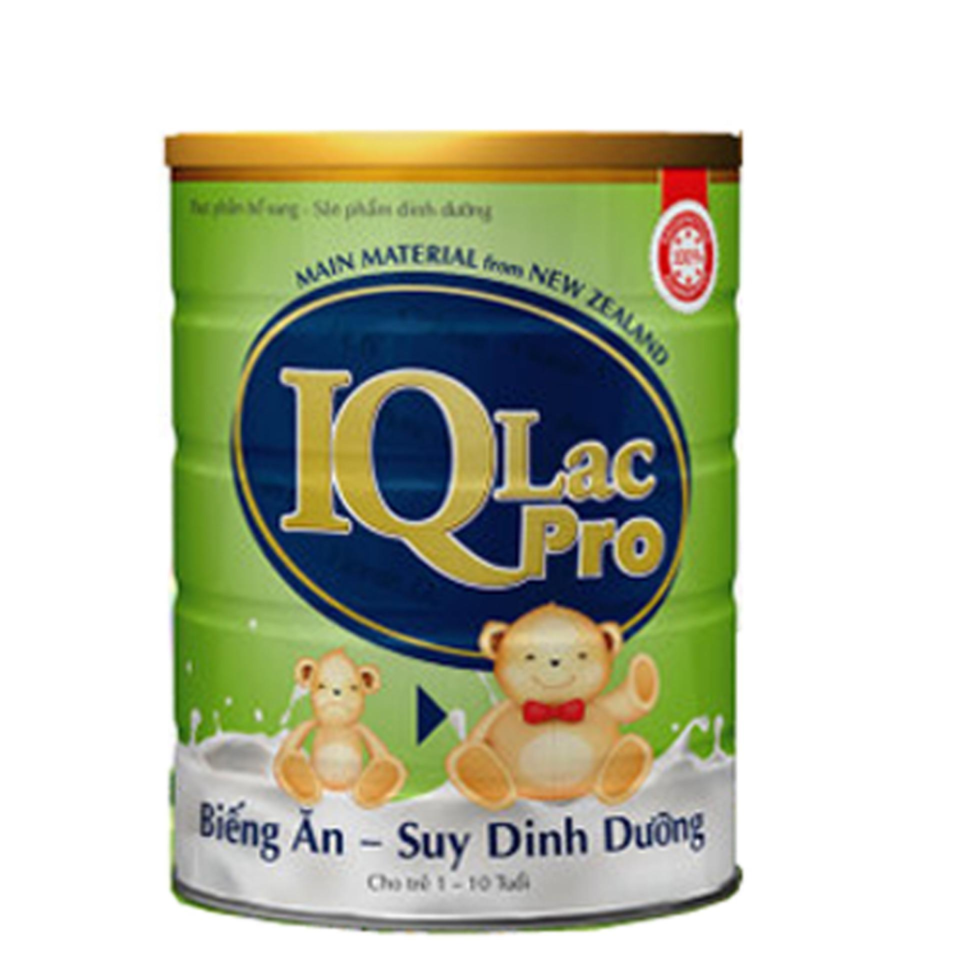 Sữa bột IQ LAC PRO Biếng ăn Suy Dinh Dưỡng 900g