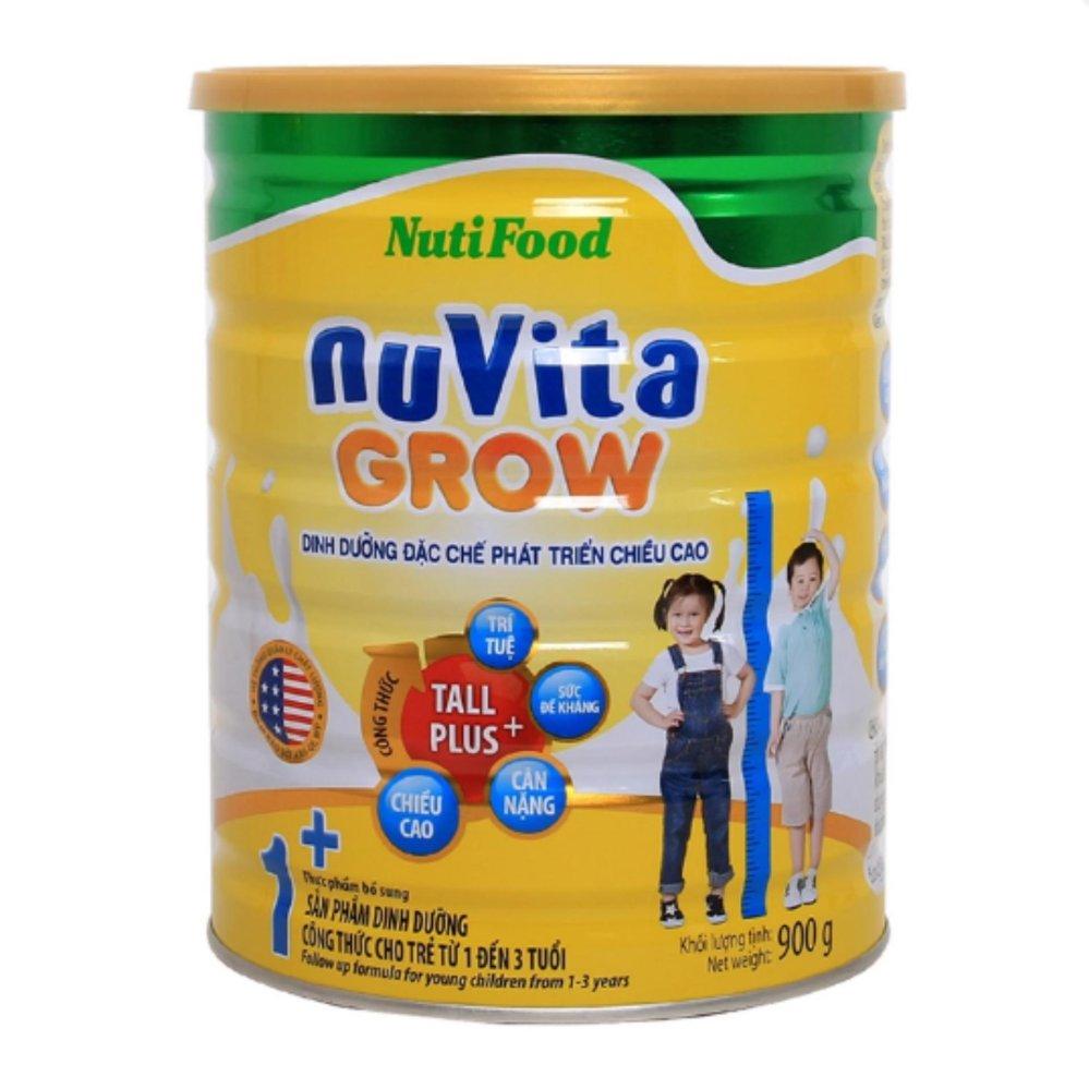 Sữa Nuvita Grow 1+ 900g phát triển chiều cao cho trẻ 1-3 tuổi