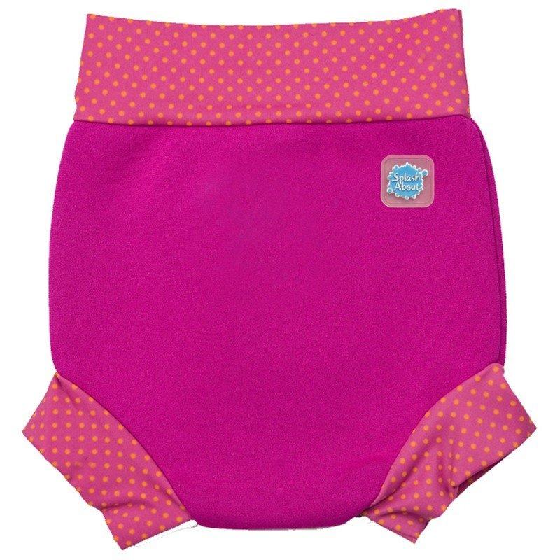 Tã đi bơi Splash About Happy Nappy Pink (Hồng viền chấm)