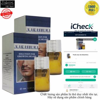 combo 2 Serum Kích Thích Mọc Râu Nakashima Solution Growing Beard10ml
