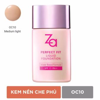 Kem Nền Che Phủ Hoàn Hảo Oc10 Za Perfect Fit Liquid Foundation Oc10 30 Ml