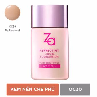 Phấn nền dạng lỏng Za Perfect Fit Liquid Foundation Oc30 30ml