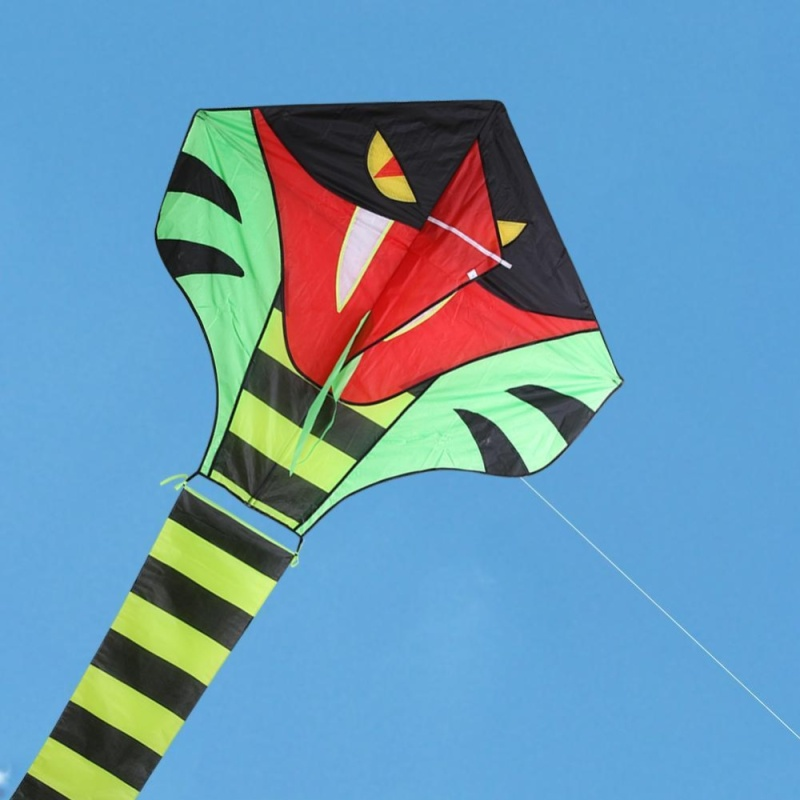 Phân phối Bamboo Color 15m Cobra Snake Kite Breeze Kite Outdoor Fun Sports Kite - intl