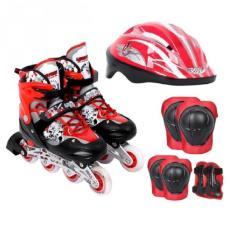 Bộ Giày Patin PTB PT01 + Găng Tay + Mũ Bảo Hiểm Size L (39 – 42) (Đỏ)