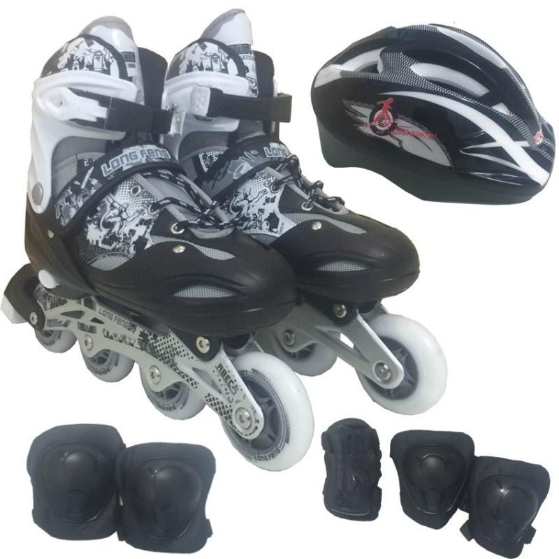 Mua Bộ Giày Patin PTB PT01 + Găng Tay + Mũ Bảo Hiểm Size L (Đen).