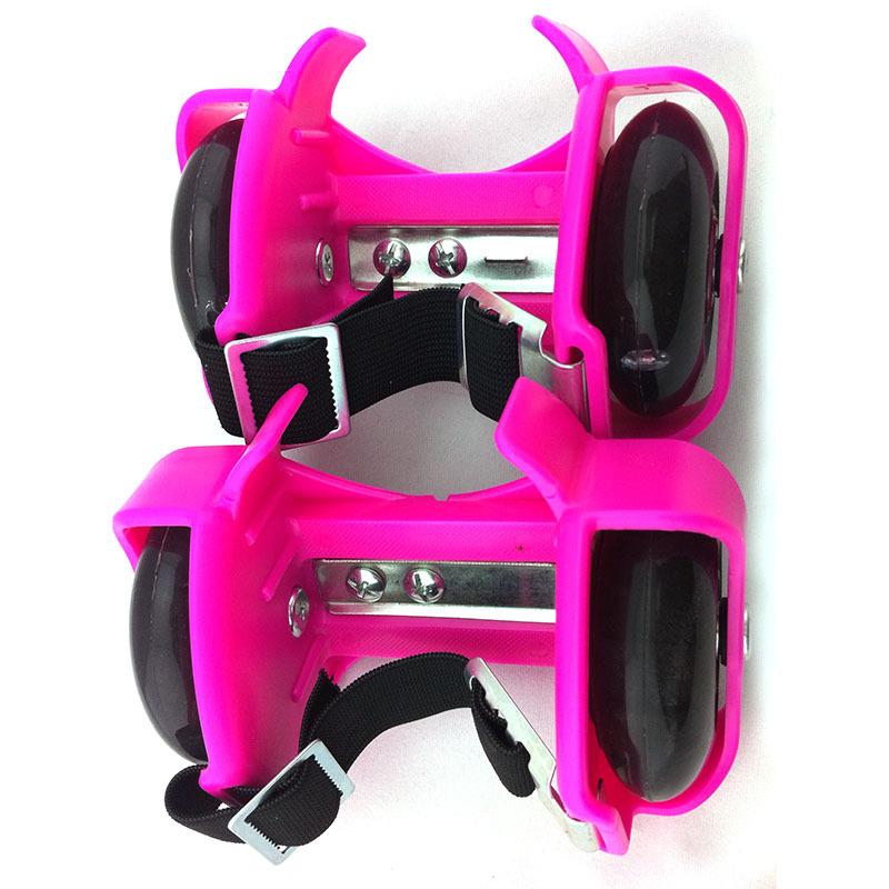Phân phối Giầy trượt phát sáng Flashing Roller Skate loại 2 bánh xe (Hồng)