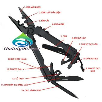 Kìm đa năng Tactical Multi Function Pocket Pliers 206425 (đen)