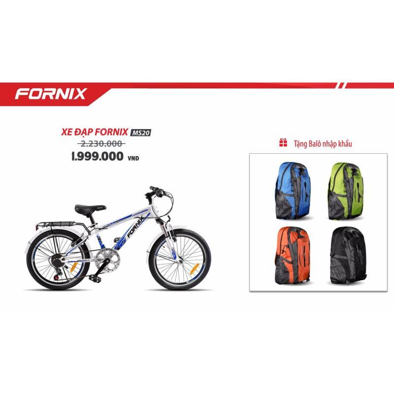 Mua Xe đạp địa hình FORNIX MS20 (trắng xanh) + tặng balo nhập khẩu