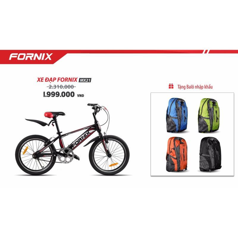 Mua Xe đạp địa hình FORNIX MX21 (đen dỏ) + tặng balo nhập khẩu
