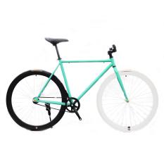 Xe đạp Fixed Gear Single Speed (Xanh Ngọc Trắng Đen)