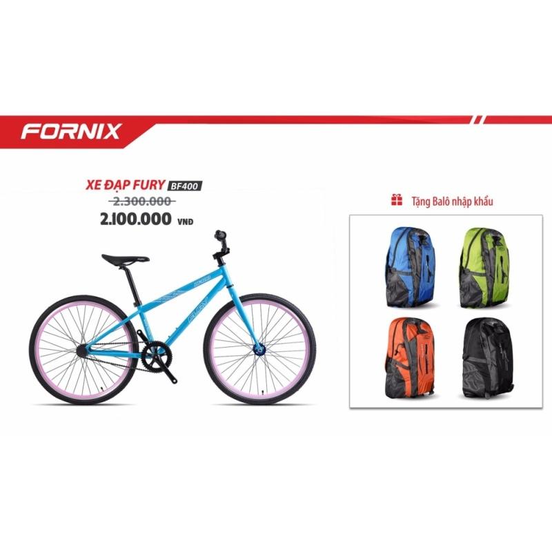 Phân phối Xe đạp FixedGear, hiệu FURY, mã BF400 ( xanh ) + tặng balô nhập khẩu