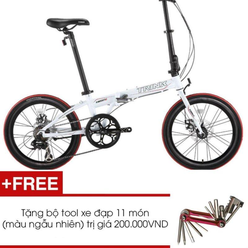 Phân phối Xe đạp gấp TRINX KA2007D (Trắng) + Tặng 1 bộ Tool xe đạp 11 món màu sắc ngẫu nhiên