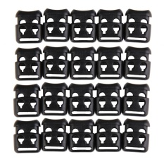 20pcs 6mm Elastic Shoelace Buckle Stopper Rope Clamp Paracord Cord Locks - intl