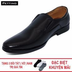 Combo Giày Tây Tặng Tất - Pettino GL-16 (đen)